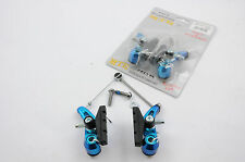 BLUE 6061 ALLOY CANTI-LEVER BRAKE SET FRONT & REAR FOR MTB, CYCLES BICYCLES NEW