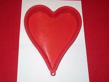 Heart Shape Silicone Cake Pan Jello Mold Red Valentine Wedding Anniversary NC