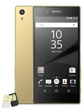 New Sony XPERIA Z5 Dual E6683 Quad 23MP 4G (FACTORY UNLOCKED) 32GB Gold Phone