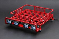 Jazrider HD Luggage Roof Rack(M)w/Light For 1/10 RC Car Truck Tamiya Axial Red