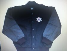 World Series of Poker Leather Jacket Black Leather sleeves Wool body New SMALL