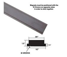 "Flexible Magnetic Strip Insert for Framed Swing Shower Doors - 72"" long"