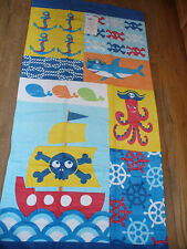 New Pirate Pirates Anchor Nautical Beach / Bath Towel Plush 28 x 58 Cute!