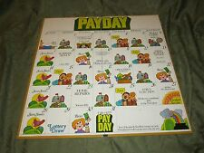 Vintage 1975 Payday Board Game Parker Brothers Cardboard Part ONLY No pieces