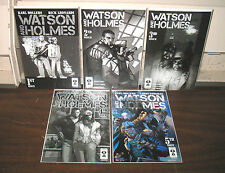 "NEW PARADIGM STUDIOS ""WATSON & HOLMES"" 1-5 COMICS MIXED COVERS  FREE SHIPPING"