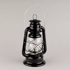"11.5""H Black Hurricane LED Lantern"