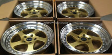 "17"" ESR SR02 Gold Wheels Set 5x114.3 17X8.5 +30 For Scion TC XB Rims Set of 4"