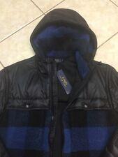 Polo Ralph Lauren Plaid Hybrid Jacket M Black/Blue Buffalo Plaid NWT $298