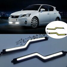 2X Bright Car COB LED Lights Daytime Running Light DRL Fog Driving Lamp white