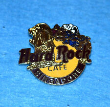 HARD ROCK CAFE Singapore Logo with Gold Merlion and Flowers Pin (no. 8763)