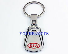 New Chrome Metal KIA key chain keyring  Rio Ceed Optima