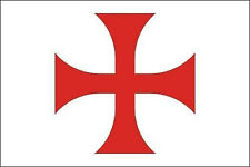 RED CROSS of the KNIGHTS TEMPLAR FLAG 5' x 3' Medieval Crusaders Masonic Banner