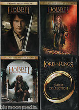 Lord of the Rings & Hobbit Trilogy DVD Lot 6 Movie Set Journey Smaug Armies NEW