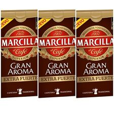3 X 250 gr MARCILLA GRAN AROMA EXTRA FUERTE  SPANISH GROUND COFFEE CAFE
