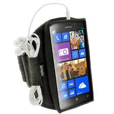 Schwarz Sports Armband für Neopren Tasche für Nokia Lumia 925 Windows Smartphone