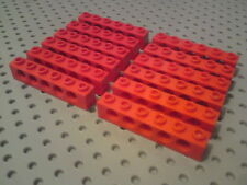 Lego Technic Bricks 1x6 with 5 holes - Red x12