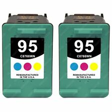 2pk Remanufactured Tri-Color Print Ink jet Cartridges for HP 95 (C8766WN)