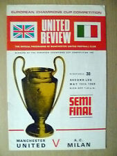 1969 European Cup Semi FINAL, 2nd Leg- MANCHESTER UNITED v A C MILAN,15 May(Org)