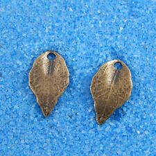 34183 Antique Bronze Alloy Leaves Shape Charms Pendants Crafts Findings 100X