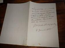 1864.Lettre autographe.Marquis de la Rochejaquelein