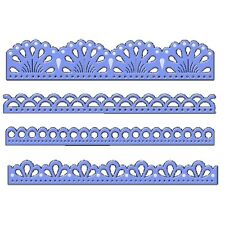 Sweet Dixie Die Elegant Borders Cut Emboss Stencil lace craft cardmaking edge