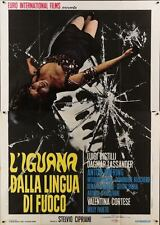 IGUANA WITH THE TONGUE OF FIRE Italian 4F movie poster 55x79 GIALLO 1971