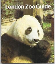 LONDON ZOO GUIDE 1982 Giant Panda cover