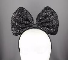 Black Big Huge headband bow mouse ears hair band accessory minnie cosplay anime