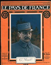 WWI Portrait Général Olivier Mazel Uniforme Saint-Cyr  France 1916 ILLUSTRATION
