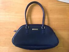 Esprit Vintage Purple Shiny Vinyl Shoulder Bag Purse Hobo Small 12.5""