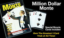 Million Dollar Monte Card Packet Trick In Bicycle Cards With Online Instruction!