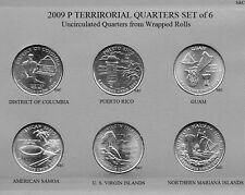 2009 P Territorial Quarters, 6 quarters set, from Roll Gem Clad.