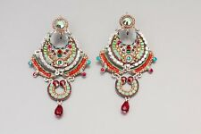Magnificent Colorful Earrings*Swarovski crystals&beads*Handmade by Adaya Jewelry