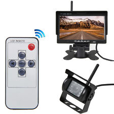"7"" Monitor+Wireless IR Rear View Back up Camera Night Vision System for RV Truck"