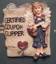 BOYDS BEAR PIN, ANGEL, CERTIFIED COUPON CLIPPER, CALLIOPE CLIPSALOT
