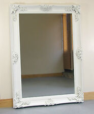 """Abbey Large Cream Shabby Chic Vintage Antique Wall Hanging Mirror - 31"""" x 43"""""""