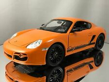 Welly Porsche Cayman S (987c) Diecast Orange with Black Rims 1/18