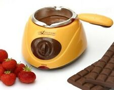 Chocolatiere Electric Chocolate Melting Pot Including Fondut Tools, Yellow