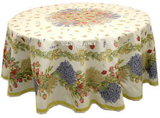 "70"" Round COATED Provence Tablecloth - Rose Lavender"