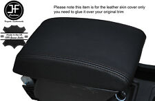 BLACK STITCHING ARMREST LID LEATHER COVER FITS SEAT LEON 2013-2016