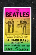Beatles Poster A hard Days Night 1966