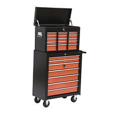 HOMCOM Tool Chest Cart Box Rolling Toolbox Case Cabinet Storage 16 Drawers