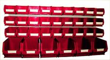 NEW PLASTIC PARTS STORAGE BIN KIT BK65 RED - 27xTC2 & 6xTC3 & LOUVRE PANEL
