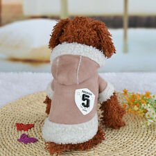 Small Pet Puppy Warm Winter Sweater Hoodie Clothing Chihuahua Poodle Dog Coat