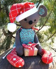 MELLY & ME MERRY MOUSE CHRISTMAS SOFT TOY PATTERN