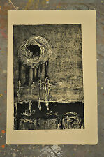 Abstract etching artist signed and numbered - 21/35