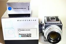 Hasselblad 500cm 80mm F2.8 Silver Chrome Lens A12 Magazine BOXED V.CLEAN