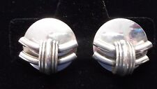 NEW SqB Silver Plated CLIP Tube Design Earrings from the Netherlands