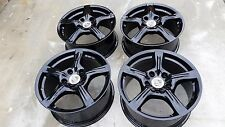 "18""PORSCHE PANAMERA GLOSS BLACK POWDER COAT OEM FACTORY WHEELS RIMS 67427"