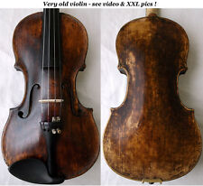 Very rare old violin late 1700 / early 1800 - see video - バイオリン скрипка 小提琴 387